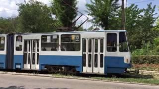 Евпатория - обкатка трамвая в Евпатории 2016 Крым 24.07.2016