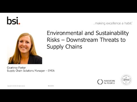 Environmental and Sustainability Risks – Downstream Threats to Supply Chains