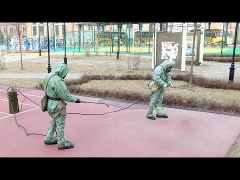 В Йошкар-Оле проведен целый комплекс профилактических мер по дезинфекции городских улиц.