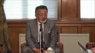 【2012年11月2日・衆議院控室】東祥三幹事長 定例記者会見