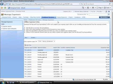 Microsoft Dynamics AX 2009 - Workflow Demo