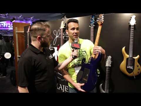 Guitar Center New from NAMM 2015 - Ernie Ball Music Man Luke III BFR Blueberry Burst Guitar
