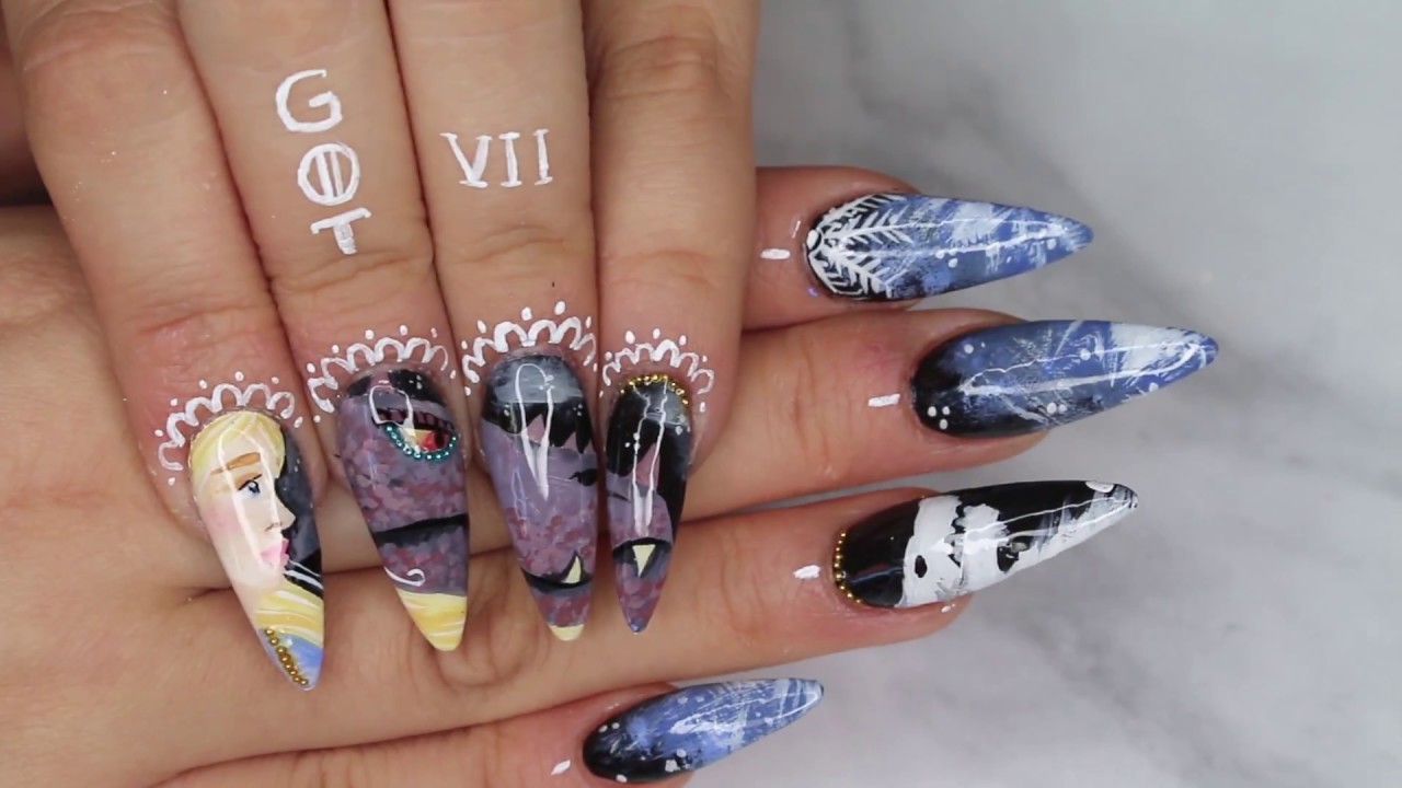 GAME OF THRONES ~ NAIL TUTORIAL - YouTube