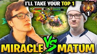 Miracle vs Matumbaman - He Will Takedown Any one to Get Top 1 - Even his Teammate