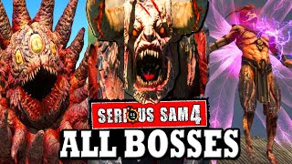 Serious Sam 4 - ALL BOSSES / ALL BOSS BATTLES + ENDING & Secret Ending