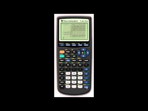 TI-83 Plus - Random, Seed, Store to List 16-9