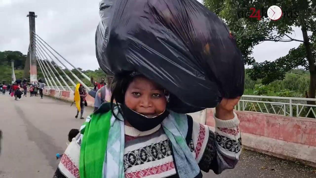O drama dos imigrantes que estão na fronteira do Acre com o Peru