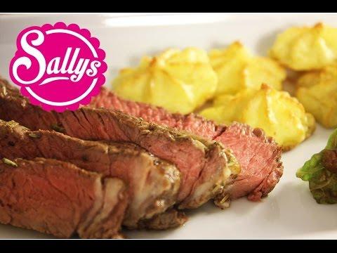 Weihnachtsmenü: Rib Eye Steak & Humus & Herzoginkartoffeln / Adventskalender / Video auf BUNTE.de