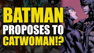 Batman Proposes To Catwoman (Batman Rebirth: The Button Aftermath)