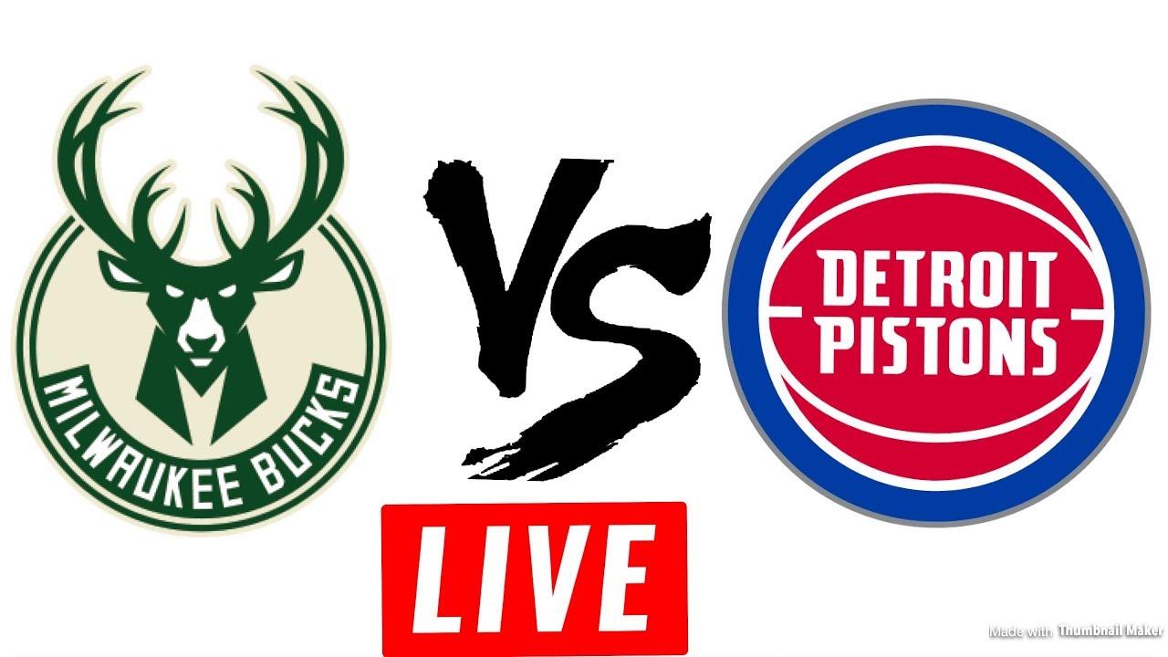 Image result for Detroit Pistons vs Milwaukee Bucks Live Streaming