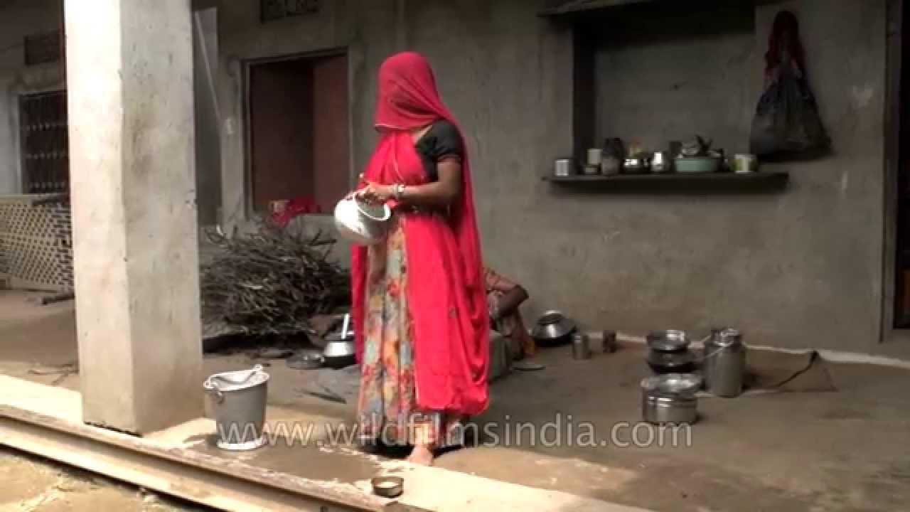 Girl Side Face Wallpaper Women Cook Wearing Ghungat Or Veils Rajasthani Village