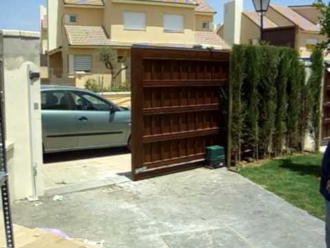 Vista interior puerta automatica corredera youtube - Puerta empotrada corredera ...