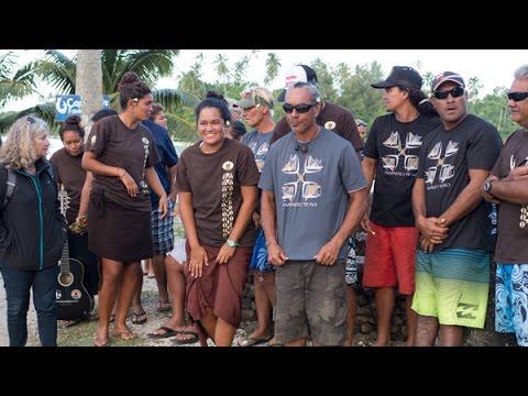The Hokule'a Polynesian Voyage Malama Honua in Cook Islands