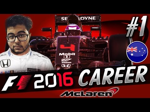 F1 2016 CAREER MODE PART 1: THE SEASON BEGINS!!! (AUSTRALIA) | aarava