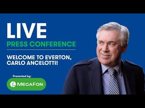 LIVE! CARLO ANCELOTTI'S FIRST EVERTON PRESS CONFERENCE