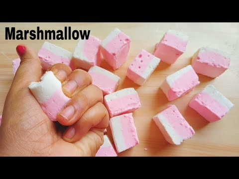 Marshmallow Recipe without Corn Syrup   Homemade Marshmallows   मारसमेल्लो बनाए घर में।