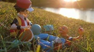 """Pokémon Figure Review: Figma Red """"Finding Your Way"""" Charmander, Bulbasaur, and Squirtle figure Ep. 5"""