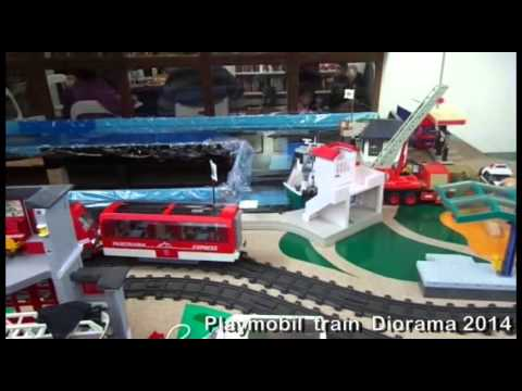 expo train playmobil Bergheim 2019 - YouTube |Playmobil Train Layouts