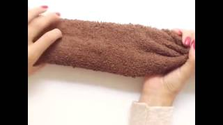 5 minute crafts a bear made from a towel
