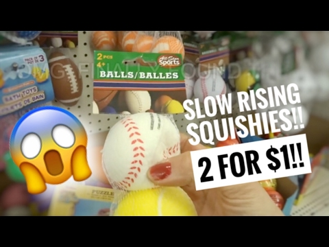 SLOW RISING SQUISHIES AT DOLLAR TREE