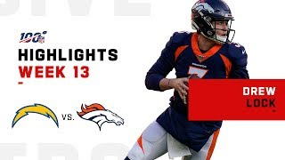 Every Pass & Run from Drew Lock's NFL Debut | NFL 2019 Highlgihts