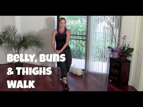 Belly, Buns & Thighs Walk - Full 40-Minute Indoor Walking Home Workout