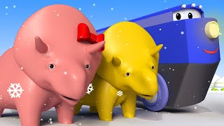 LEARN NUMBERS : Searching CHRISTMAS OBJECTS - Dino the Dinosaur Educational cartoon for toddlers