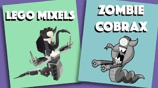 LEGO Mixels -  Zombie Cobrax - Stop Motion Build (How to build)