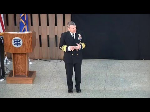 Admiral William Gortney at Saint Thomas Academy