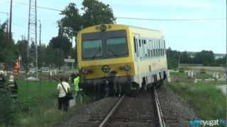 Kisiklott a Jenbacher Lukácsházánál   Földgyalu hajtott a sínekre