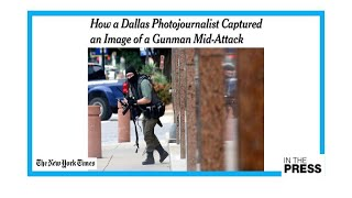 Serendipitous: Dallas photographer captures gunman mid-attack at courthouse