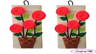Cara Membuat Hiasan Dinding dari Flanel dan Stick Es Krim || Wall Decoration || Room Decor
