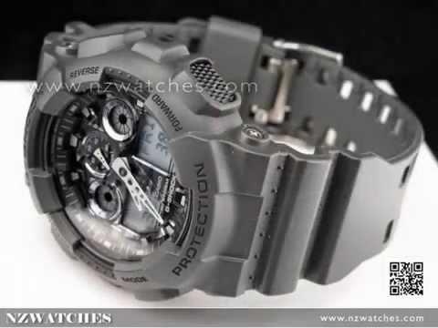 Casio G-Shock Camouflage Gray Analog Digital Display Watch GA-100CF ... fde292fad2af