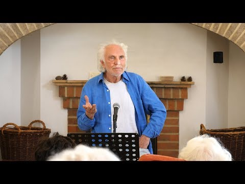 Terence Stamp speaking at the Krishnamurti Centre