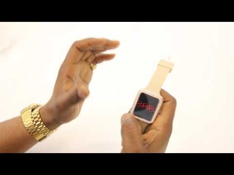 Charles Raymond LED Touch Screen Watches Instructions IT'S LIT!!!!