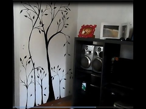 Diy how to make a wall mural painting home decoration for Best projector for mural painting