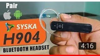 syska bluetooth headset unboxing   syska bluetooth headset review   syska bluetooth headset price  