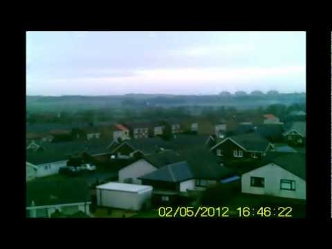 Syma S032g Helicopter with onboard 808 chain Camera over Annan.