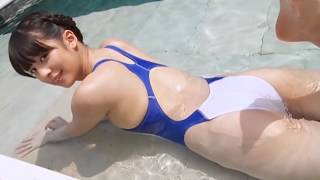 Ai Yamagami 山上愛 3 - White / Blue Swimsuit.