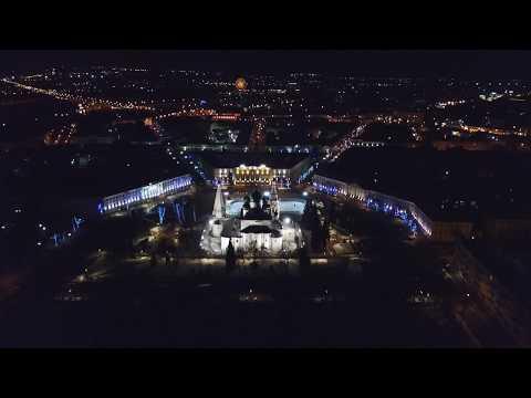 Ярославль, центр - март 2019 (вид сверху)