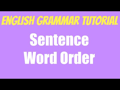 English grammar tutorial - Word order - Gramática inglesa