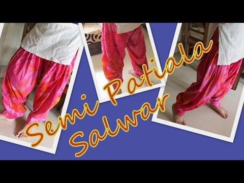 How to cut Semi-Patiala Salwar