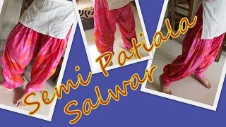 How to cut Semi-Patiala Salwar