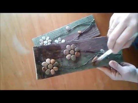 Cuadros con piedras y material reciclado tips de - Cuadros hechos con piedras de playa ...