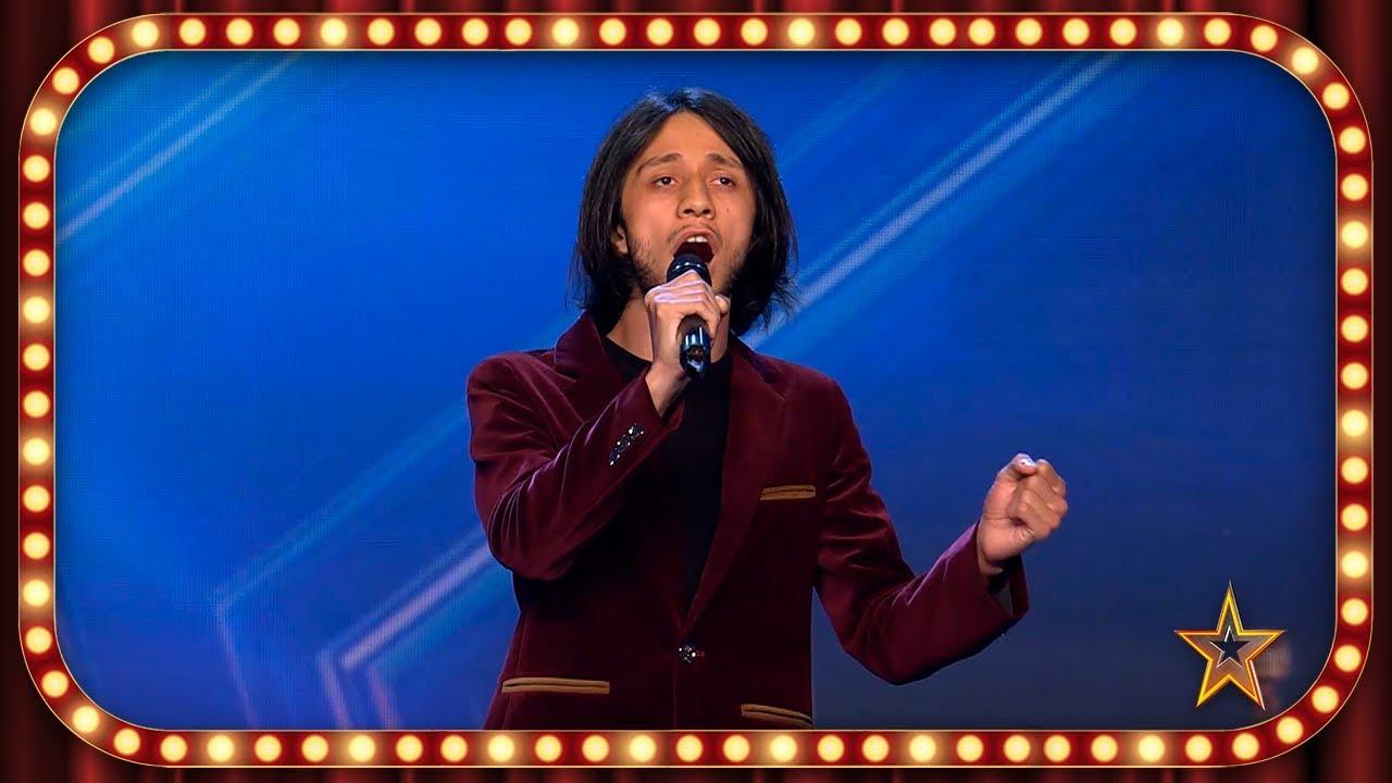 Viene de GEORGIA para mostrar su talento para CANTAR en FRANCÉS   Inéditos   Got Talent España 2019