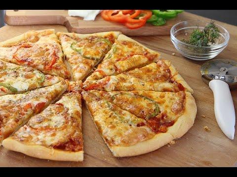 recette-de-pizza-facile-/-easy-homemade-pizza-/البيتزا-بطريقة-سهلة