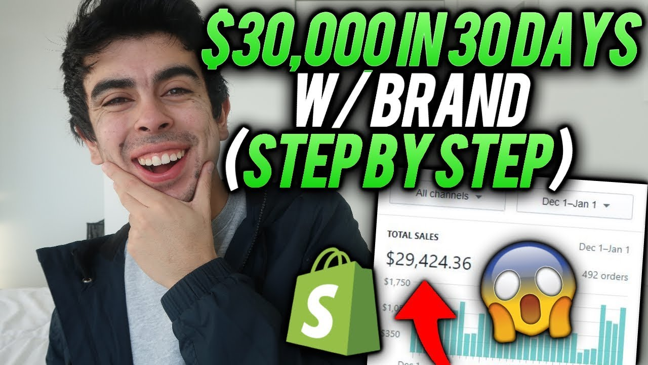 FASTEST Steps To $30,000/mo w/ A Brand | Shopify Dropshipping 2019