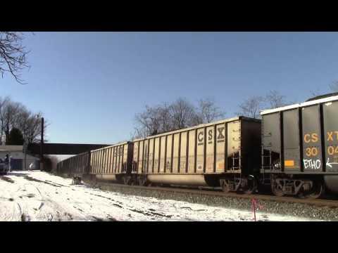 CSX U883 in Hi Def at Shenandoah Junction,WV on 1/18/14