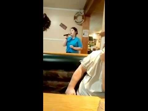 Adele cover Karaoke first time in public