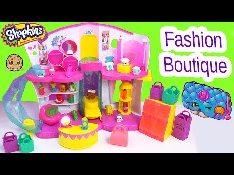 Shopkins Season 3 Playset Fashion Boutique Mode Spree Exclusive Toy - Blind Bag Video Cookieswirlc